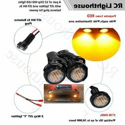 2 Amber or Yellow  HID HD LED Light Bulbs for scale racing 1