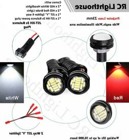 2 White and 2 Red HID HD LED Light Bulbs for 1/8 1/10 scale