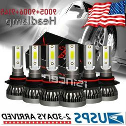 9005 9006 9145 LED Headlight Bulbs Fit For Chevy 03-07 Silve
