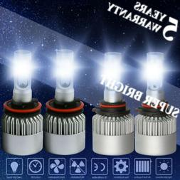H11 + 9005 LED Headlight Light 4000W 600000LM Hi-Lo Beam Com