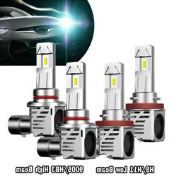 two Pair 9005 + H11 LED Headlight High Low Beam for Chevy Si