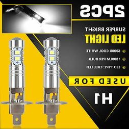 Xenon H1 LED Halogen Headlight Bulbs 6000K High Low Beam Lig